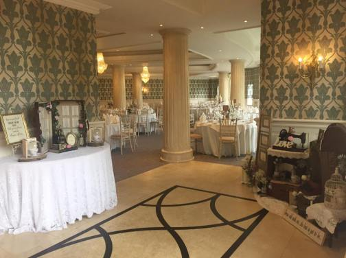 the vintage wedding fairy - step house hotel ballroom entrance decor
