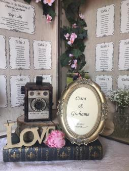 the vintage wedding fairy - step house hotel ciara and grahame table plan