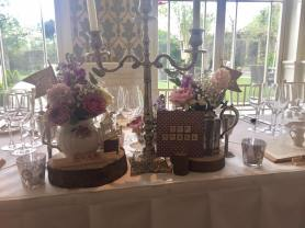 the vintage wedding fairy - step house hotel top table details