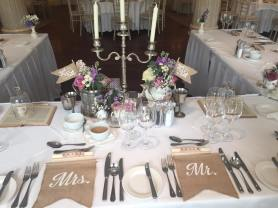 the vintage wedding fairy - step house hotel top table
